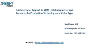 Printing Toner Market: Key Trends, Demand, Growth, Size, Review, Share, Analysis to 2025 |The Insight Partners