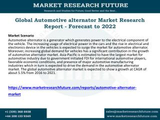 Global Automotive alternator Market Research Report