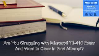 Free Microsoft 70-410 Exams Question and Answers New