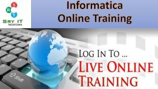 Informatica Live Online Training 2017