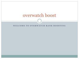 overwatch boosting