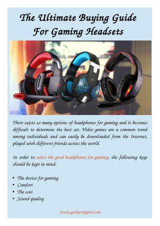 The Ultimate Buying Guide For Gaming Headsets