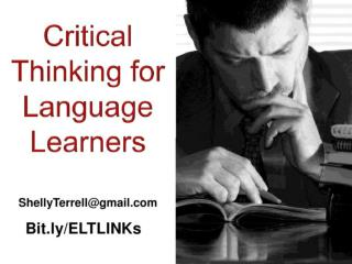 Critical Thinking with Language Learners