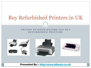Keep in Mind Before You Buy Refurbished Printers