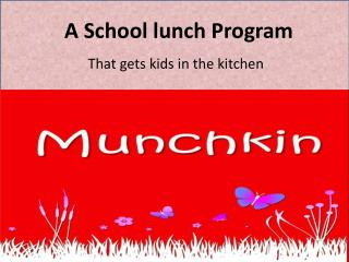 A School lunch Program That gets kids in the kitchen