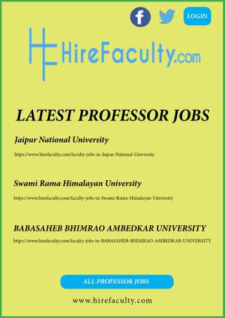 Looking for #Professor #Jobs All Over India, Apply @HireFaculty
