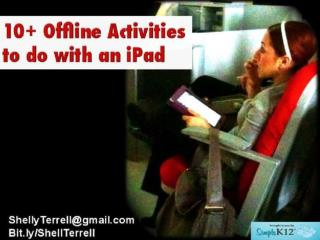 15 Offline Activities with an iPad