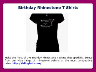 Personalized Bling T Shirts