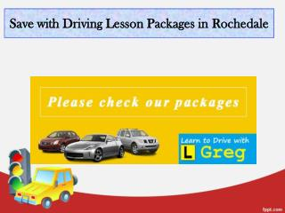 Save with Driving Lesson Packages in Rochedale
