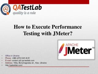 How to Execute Performance Testing with JMeter?