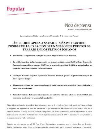 Ángel Ron en ForoPyme Extremadura