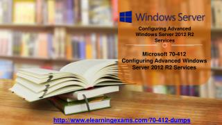 Microsoft 70-412   100% Reliable Exam Study Material