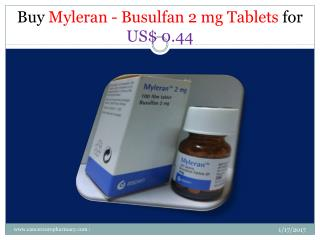 Buy Busulfan 2 mg Tablets for US$ 0.44