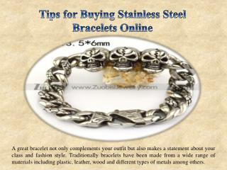Tips for Buying Stainless Steel Bracelets Online
