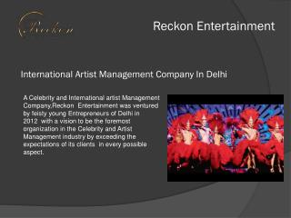 NCR No 1 Russian Belly Dancers Services provide Awarded Company Reckon Entertainment pvt ltd