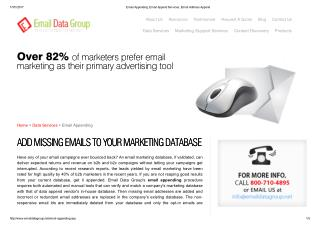 Get Accurate And Affordable Email Appending from Email Data Group