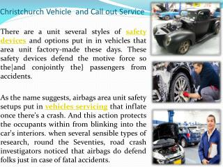 Christchurch Vehicle Call out Service