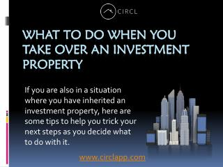 What To Do When You Take Over An Investment Property