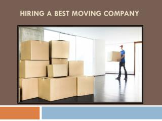 Hiring a Best Moving Company