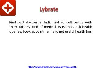 Best Homeopathic Doctor in Lucknow - Lybrate