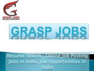 #Resume Search,Online #Job #Posting,Jobs in #India, Job #Opportunities in India