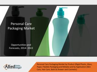 Personal Care Packaging Market Expected to Reach $39,585 Million, Globally, by 2022