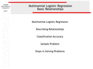 Multinomial Logistic Regression Basic Relationships