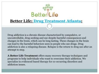 Drug Addiction Treatments Atlanta