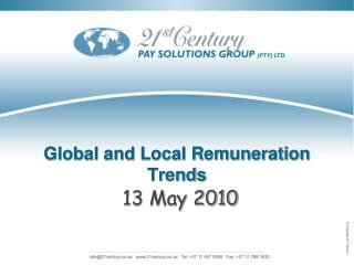 Global and Local Remuneration Trends