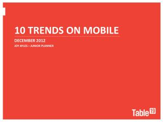 10 Trends on Mobile