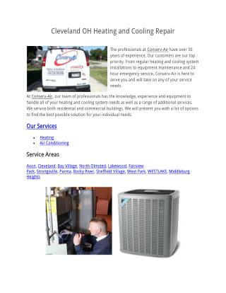 Cleveland OH Heating and Cooling Repair