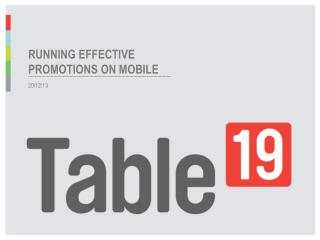 Running effective promotions on mobile