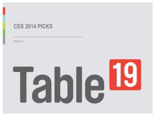 CES 2014 - Top Picks
