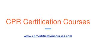 Online CPR Certification For Healthcare Providers