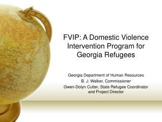 FVIP: A Domestic Violence Intervention Program for Georgia Refugees