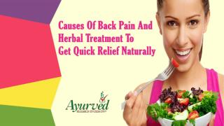 Causes Of Back Pain And Herbal Treatment To Get Quick Relief Naturally