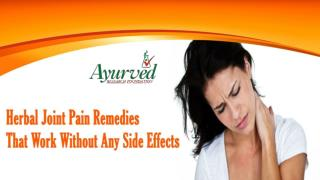 Herbal Joint Pain Remedies That Work Without Any Side Effects