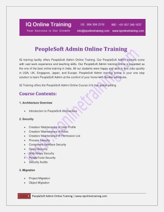 Live, instructor-led  Peoplesoft admin online training