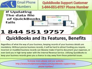 QuickBooks Customer Support 1-844-551-9757 Help Number