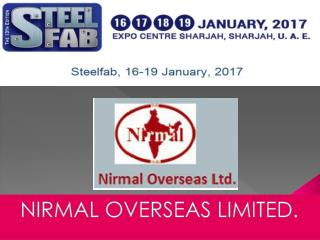 Sharjah Exhibition of Tube Mill from Nirmal Overseas Limited