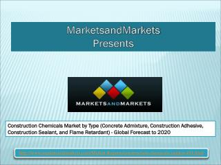 Construction Chemicals Market worth 33.98 Billion USD by 2020
