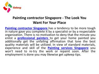 Painting contractor singapore   the look you want for your place