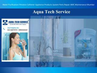Water Purification Filtration Softener Appliance Products System Parts Repair AMC Maintenance Mumbai