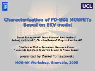 Characterization of FD-SOI MOSFETs Based on EKV model