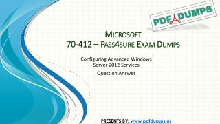 Pass4sure 70-412 Microsoft Real Exam Dumps