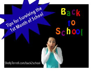 Survival Tips for the 1st Month of School: 10  Tips & Resources