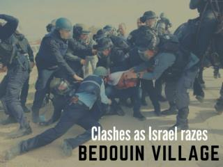 Clashes as Israel razes Bedouin village