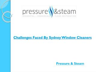 Challenges Faced By Sydney Window Cleaners