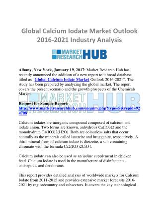 Global Calcium Iodate Market Trend and Research Report 2016-2021