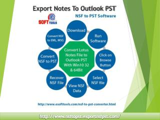 Export Notes to Outlook PST